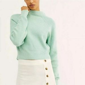 Free People Too Good Blue Green Sweater